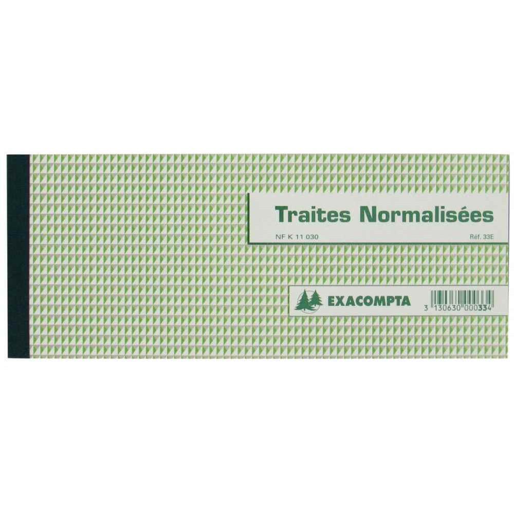 CARNET DE 50 TRAITES NORMALISÉES, FORMAT 10 X 21 CM