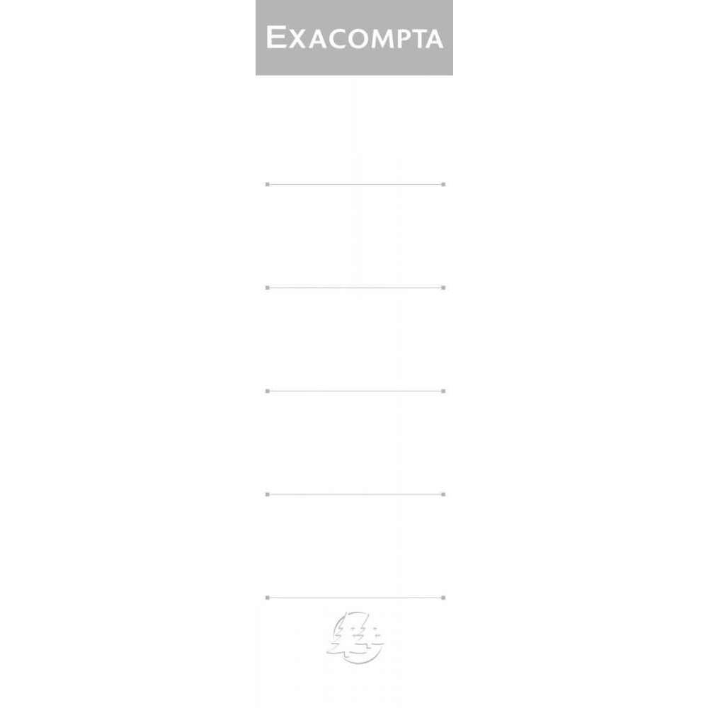 PAQUET DE 10 ÉTIQUETTES CARTONNÉES POUR CLASSEURS À LEVIER FORMAT 18X5 CM BLANC