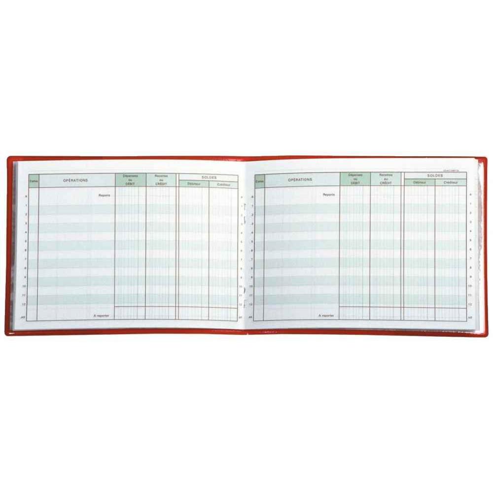 CARNET DE POSITION DU COMPTE BANCAIRE, FORMAT 11 X 15 CM