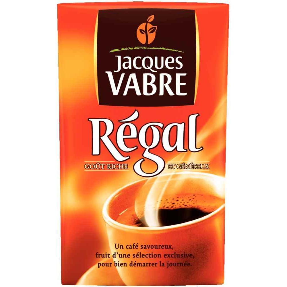 PAQUET DE 250G DE CAFÉ JACQUES VABRE MOULU