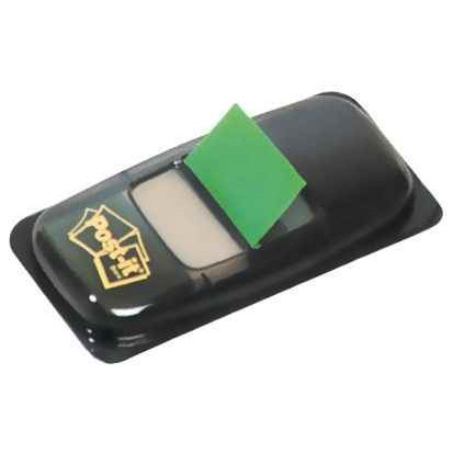 CARTE DE 50 INDEX POST-IT REPOSITIONNABLES 25,4 X 43 MM VERT