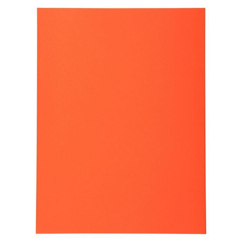 PAQUET DE 100 CHEMISES 220G FOREVER 250 FORMAT 24X32 CM ORANGE