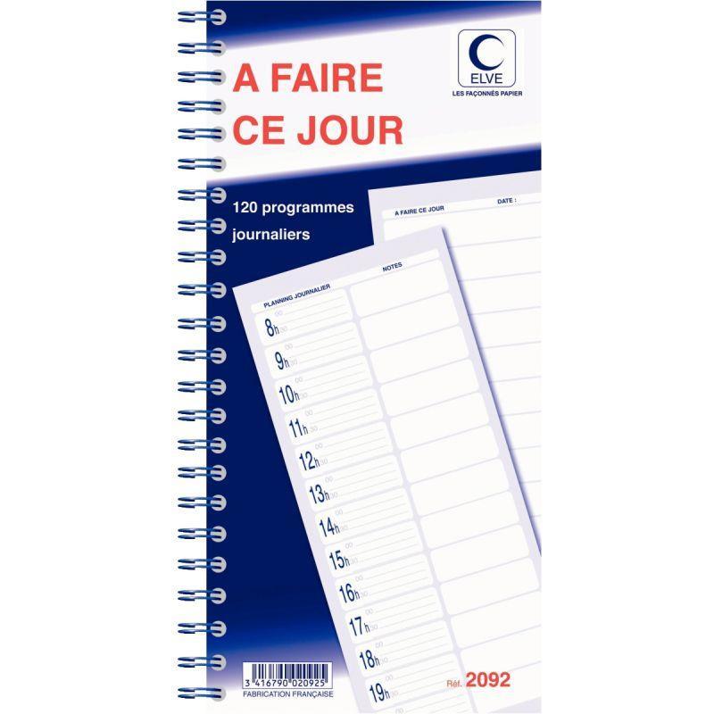 CARNET DE 120 PROGRAMMES A FAIRE CE JOUR